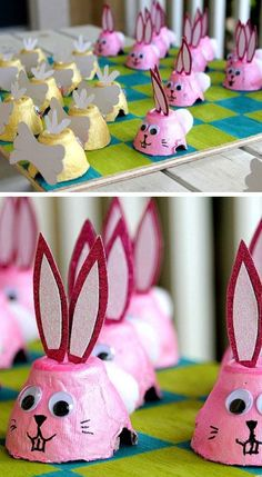 Easter Egg Carton Checkers | Click Pic for 25 Easy Easter Crafts for Kids to Make | Easy Easter Craft Ideas for Toddlers to Make