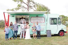 Fun and versatile food trucks, such as Curbside Gourment in West Palm Beach, are a hot wedding trend | Photo: Chelsey Boatwright Photography...