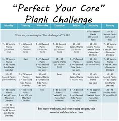 He and She Eat Clean: Monthly Challenge :: Perfect Your Core Plank Challenge.....to do after I complete the 30-day plank challenge