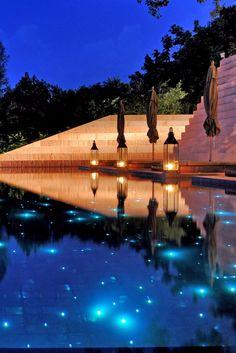 The resort's main pool has starry fiber optic lighting. Paresa Resort Phuket…
