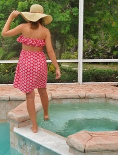 Homemade Strapless Ruffle Dress with Open Back Slot
