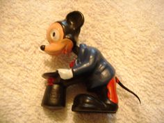 Vintage Mickey Mouse 1940s Walt Disney Minature Bobble Head Nodder Figure made in Hong Kong Marx Toys on Etsy, $45.00