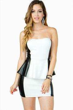 Black and White Peplum Dress ... Gorgeous <3