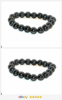 Hematite stretchy Bracelet 11mm Round beads USA Seller #EBAY http://stores.ebay.com/JEWELRY-AND-GIFTS-BY-ALICE-AND-ANN