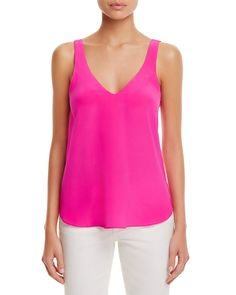 We're tickled pink by this neon-hued number from Amanda Uprichard, crafted in luxe signature silk and finished with strappy cutout back. | Silk | Dry clean | Imported | Fits true to size, order your n