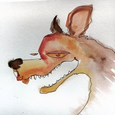 Im scheming to paint a big bad wolf!... Art watercolor acrylic doodle art painting artistsoftumblr watercolor