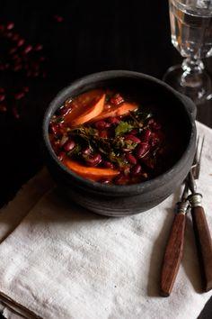 Feijoada de Feijão Vermelho, Cenoura e Couve Galega :: Red Bean, Carrot and Kale Stew ¦ Le Passe Vite