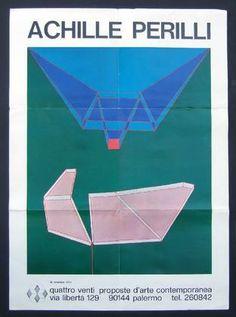PERILLI Achille, Achille Perilli. Manifesto della Folle Immagine nello Spazio immaginario. Palermo, Galleria Quattro Venti, 1972.