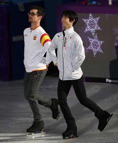 Your Olympic champion pair skaters, Javier Fernández and Yuzuru Hanyu