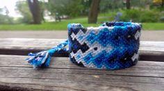 Shades of blue gradient woven friendship by TrinketsAndDreamsLV
