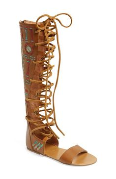 Free People 'Bellflower' Tall Gladiator Sandal (Women) at Nordstrom.com.