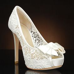 I want these! JOAN & DAVID CUTIE Ivory Wedding Shoes and CUTIE Dyeable Bridal Shoes IVORY