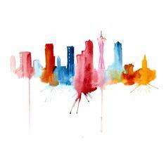 Siluetas abstractas de ciudades - Elena Romanova