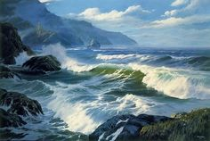 Paintings Reproductions Custom Paintings Seascape ( Trails End )
