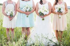 mixed bridesmaid dresses/ succulent bouquets! -Hannah Victoria Photography- hannahvictoriaphoto.squarespace.com
