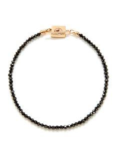 Black Diamonds and 18kt Rose Gold Bracelet by Tateossian on Park & Bond