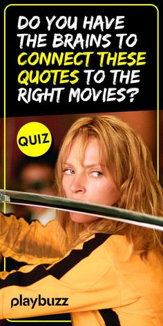 Do You Have the Brains to Connect These Quotes to the Right Movies? *** #PlaybuzzQuiz General Knowledge Movie Trivia Movies Netflix Kill Bill The Wizrad Of Oz IQ Test Cinema Playbuzz Quiz Movie Trivia, Movie Facts, Boy Best Friend, Best Friends, Kill Bill, Playbuzz, Best Memories, Quizzes, Netflix