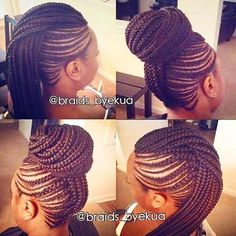 STYLIST FEATURE| Gorgeous #cornrows styled by #ATLBraider @braidsbyekua ❤️ Neat and classy style #VoiceOfHair ========================= Go to VoiceOfHair.com ========================= Find hairstyles and hair tips! =========================