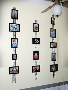 Too many pics, can't decide which to hang? Hang them all! I will be doing this!!!