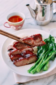 Char siu, or Chinese BBQ Pork, is a delicious Cantonese roast meat. Make authentic Chinatown char siu at home with our restaurant-quality recipe! Source: thewoksoflife.com Bbq Pork Roast, Chinese Roast Pork, Pork Recipes, Asian Recipes, Asian Foods, Chinese Recipes, Thai Recipes, Meat Restaurant, Wok Of Life