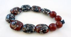 Lampwork Bead Set   'Drama Queen' by RoxeMarie on Etsy, $10.00
