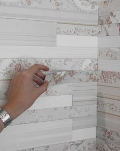 Magnetic Wallpaper - Romantic Patchwork Wall Made with Magnetic Strips of Wallpaper, Design by van Vij5 - You Can Change it Anytime in Any Wall You Want!