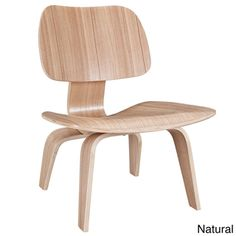 Molded Natural Plywood Lounge Chair | Overstock.com Shopping - Great Deals on Modway Living Room Chairs item 14678530- $134.38 on overstock.