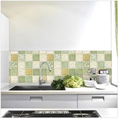 2015 Vintage Classic Mosaic Waterproof Wallpaper For Bathroom Wall Tile Stickers Kitchen Tile Wallpaper Home Decoration Decals-inWall Stickers from Home & Garden on Aliexpress.com   Alibaba Group