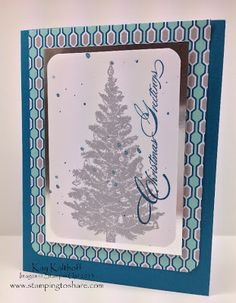 Kay Kalthoff is Stamping to Share with Stampin' Up! Special Season Cards in a Snap with a How To Video!