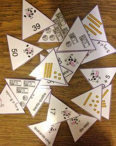Game: representations of a number. Daily 3 Math, Math 2, 1st Grade Math, Guided Math, Math Games, Math Activities, Math Stations, Math Centers, Math Logo