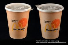 McDonald's - Good Morning America paper coffee cup - food restaraunt packaging - circa late 1970's