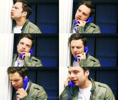 Sebastian Stan funny GIF set.. I'll never stop finding and pinning these
