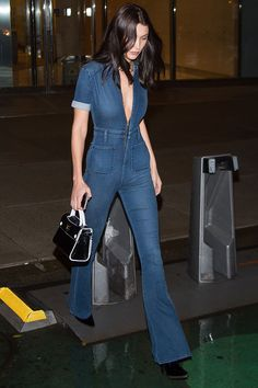 Tracing Bella Hadid's Street Style Evolution From SoCal Good Girl to Fearless Fashion Risk-Taker Fashionista Trends, Fashion Trends, 90s Fashion, Fashion Outfits, Bella Hadid Outfits, Bella Hadid Style, Moda Victoria Secret, Victoria Secret Fashion Show, Jumpsuit Outfit