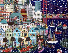 San Francisco, #painting, #art, #travelblog