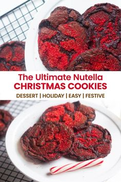 Meet the one bowl Chocolate Nutella Cookies that is an easy recipe to make but dazzles everyone! It is the ultimate sweet Christmas cookies recipe filled with chocolate and Nutella. Gorgeous sparkles and delicate crinkles make this Holiday cookie a show stopper. #christmascookies #christmasdessert