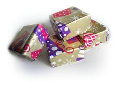 Set di quattro scatole origami natalizie scatole di Buttonstyle, €8.00