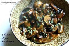 Balsamic Thyme Mushrooms