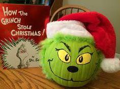Storybook Character Pumpkin Decorating~ The Grinch Pumpkin Books, Pumpkin Art, Pumpkin Painting, Pumpkin Ideas, Halloween Themes, Halloween Crafts, Holiday Crafts, Halloween Decorations, Halloween Stuff