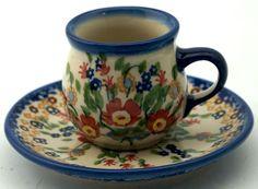 Boleslawiec Polish Pottery - Belly Cup W/Saucer
