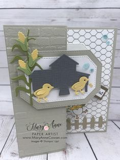 These Farmyard Chicks just makes me smile! This is a great set to add to your stamping collection! More inspiration on my blog! Little Birdie, Paper Artist, Farm Yard, Stamp Sets, Creative Cards, Diy Cards, Homemade Cards, Stampin Up Cards, Farm Animals