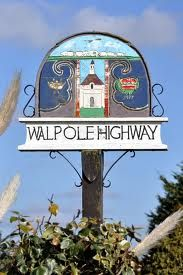 Walpole Highway village sign Norfolk England, English Village, My Kind Of Town, Decorative Signs, Street Signs, Shop Signs, Amazing Architecture, Vintage Signs, Ceilings