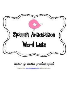 1000 images about speech therapy spanish on pinterest spanish spanish words and sound free. Black Bedroom Furniture Sets. Home Design Ideas