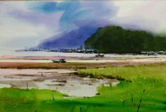 Jung In Sung, Golf Courses, Watercolor, Painting, Art, Pen And Wash, Art Background, Watercolor Painting, Watercolour