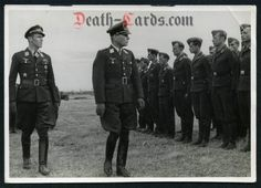 orig. WWII Photo - Fighter Ace Hannes Trautloft with General Helmuth Förster