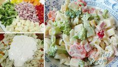Recept Lehký těstovinový salát s jogurtovým dresinkem Tzatziki, Czech Recipes, Ethnic Recipes, Pasta Salad, Feta, Potato Salad, Salads, Food And Drink, Soup