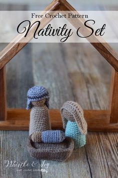 FREE Crochet Pattern: Nativity Crochet Along | Day Two of this CAL is crochet Joseph! Make the second figure of this adorable, rustic nativity.