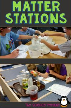 The Science Penguin: BIG Science Stations Units: Physical Science Fourth Grade Science, Middle School Science, Elementary Science, Science Classroom, Teaching Science, Science Education, Classroom Projects, Upper Elementary, Teaching Tools