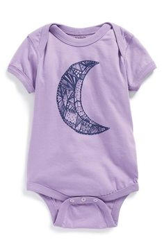 Free shipping and returns on FEATHER 4 ARROW 'Moon' Bodysuit (Baby Girls) at Nordstrom.com. Stylized moon graphics take center stage on an envelope-sleeve bodysuit shaped from soft ring-spun cotton.<br><br>This item is presented in special partnership with Etsy, an online community of small-scale makers and artists whose quality-crafted goods represent the best in current DIY, artisanal and homegrown trends. Nordstrom curates a rotating, limited-quantity collection of Etsy goods specially…