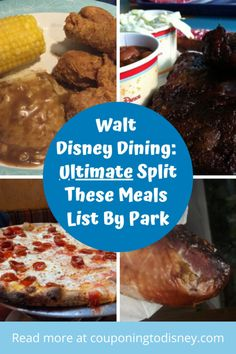Disney World Dining: Ultimate Split These Meals List By Park