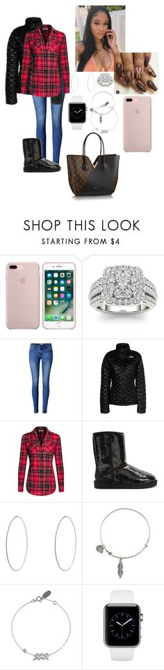 """""""Day Off: Taking 1/3 kids to Doctors Office👩🏿⚕️🏥"""" by madisonw525 ❤ liked on Polyvore featuring Louis Vuitton, Modern Bride, WithChic, The North Face, UGG Australia, New Look and Alex and Ani"""